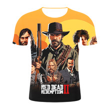 Red Dead Redemption 2 New 3d T Shirt Cool Summer Hipster Fashion Short Sleeve Tee Tops Devil May Cry Men/Women T-Shirts Homme(China)