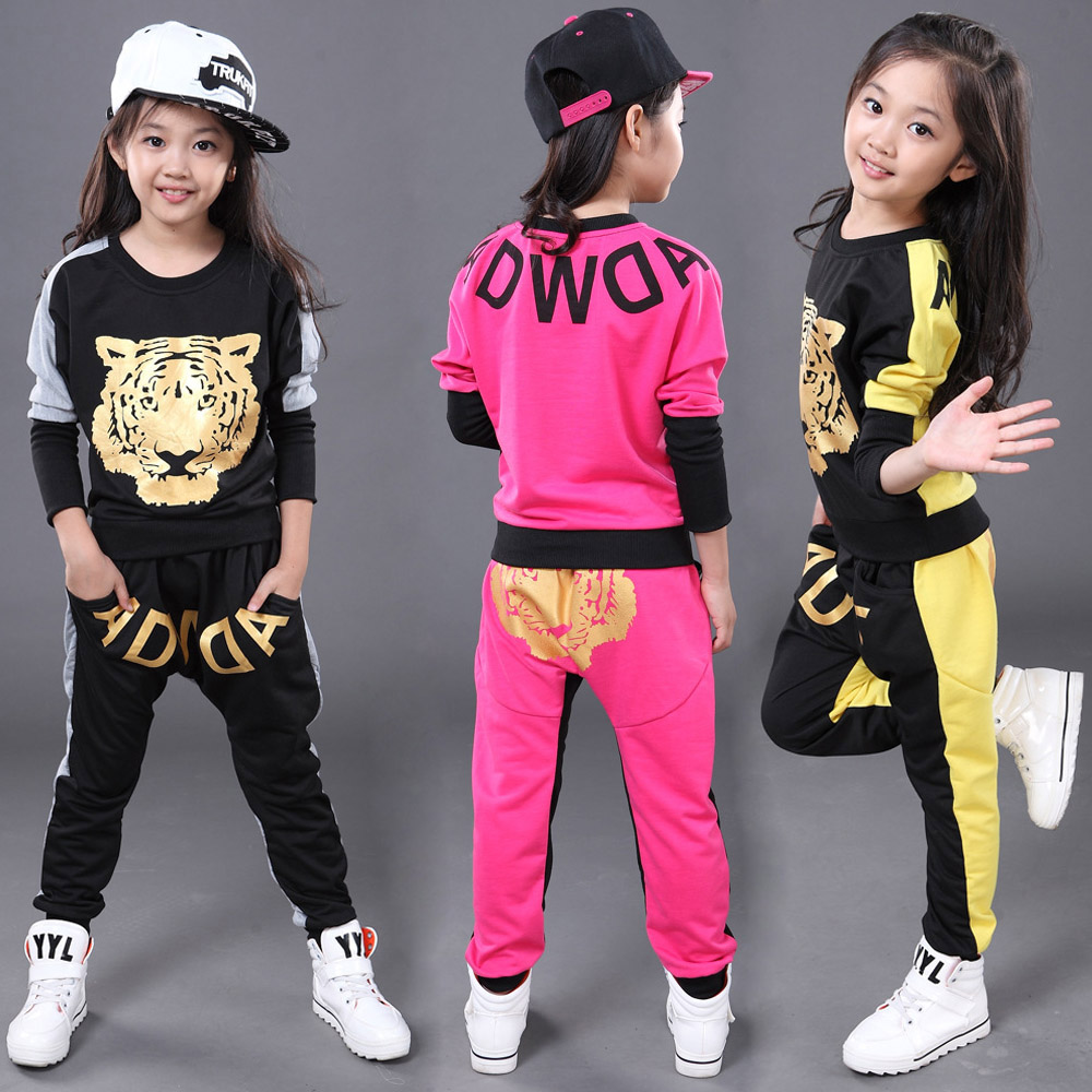 Black Boy Girl Long Sleeve Tiger Hiphop Hip Hop Modern Contemporary Dance Costume Fashion Style Hip Hop Outfit