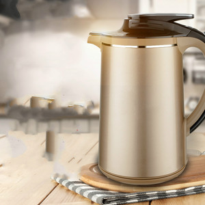 Electric kettle boiling water heat preservation and insulation double household 304 stainless steel autom Overheat Protection(China)