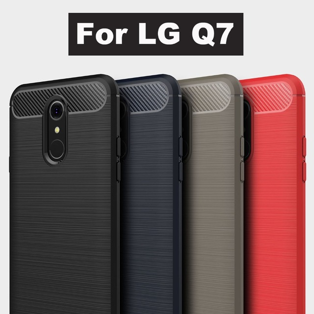 new arrival 7d04a ae5b2 US $2.76 5% OFF|Phone Case For LG Q7 Cover 2018 Best Drawing Brushed Anti  shock Soft Silicone case back cover For LG Q7 q 7 Full Protection Case-in  ...