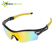 Hot! RockBros Polarized Cycling Sun Glasses Outdoor Sports Bicycle Glasses Bike Sunglasses TR90 Goggles Eyewear 5 Lens #10004
