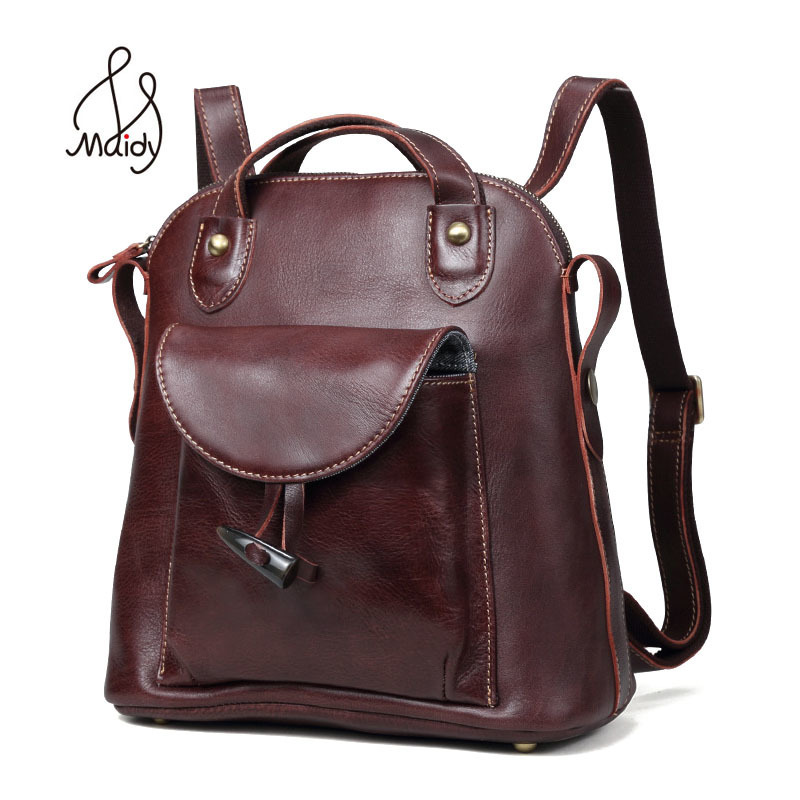 Maidy Women Large Girls Genuine Cow Leather Zipper Ladies Backpack And Shoulder Bags Mochila School Bags Computer Laptop BrandMaidy Women Large Girls Genuine Cow Leather Zipper Ladies Backpack And Shoulder Bags Mochila School Bags Computer Laptop Brand