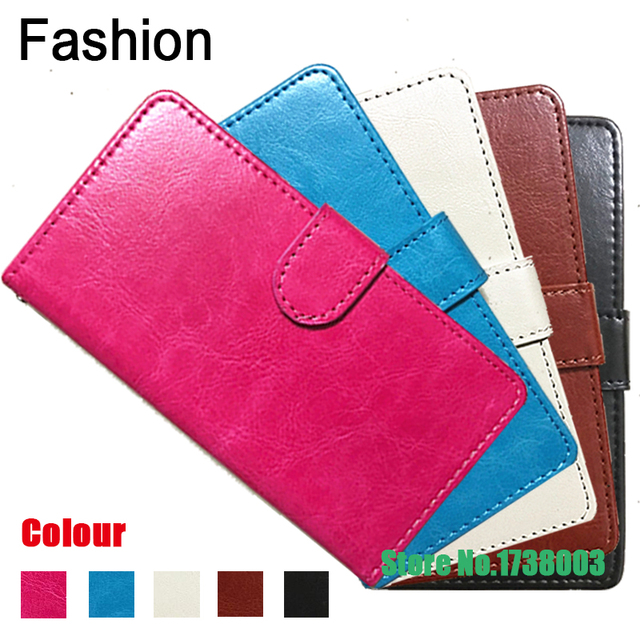 Top Selling 5 colors Fashion 360 Rotation Ultra Thin Flip PU Leather Phone Cases For Ergo F500 Force
