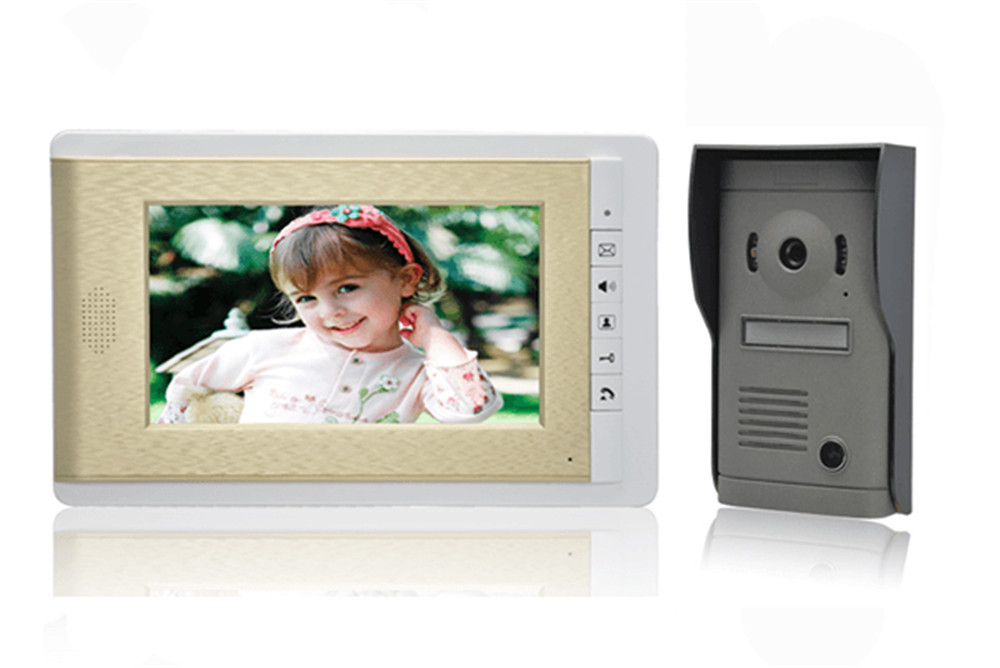 600TVL 7 Inch Screen Wired Intercom Video Door Phone