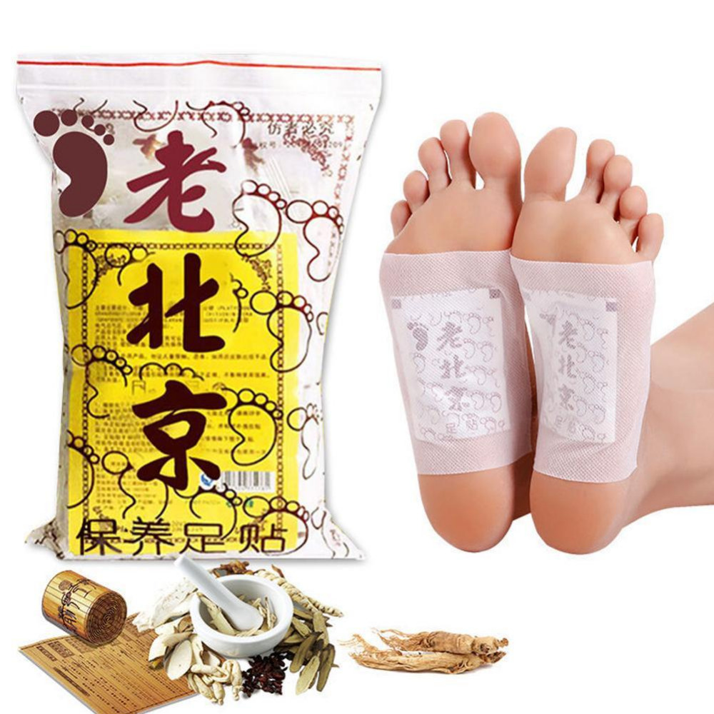 10/50 Pcs Old Beijing Foot Pads Detox Foot Patch Slimming  Foot Patch Ginger Organic Detox Feet Cleansing Feet Care