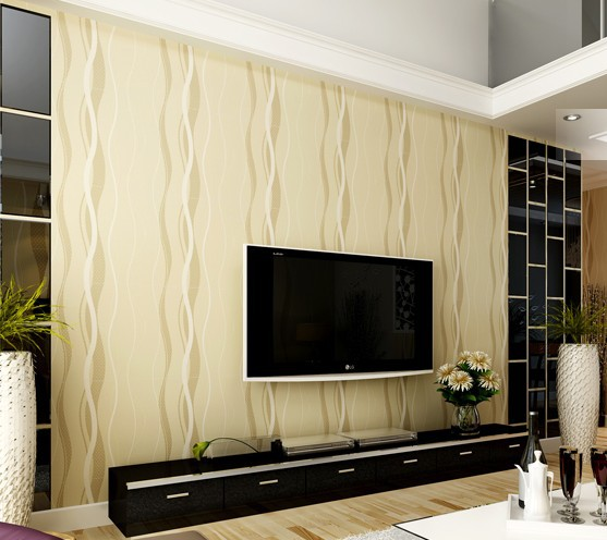 5color Modern Curve Stripes Wallpapers Roll Simple Living Room