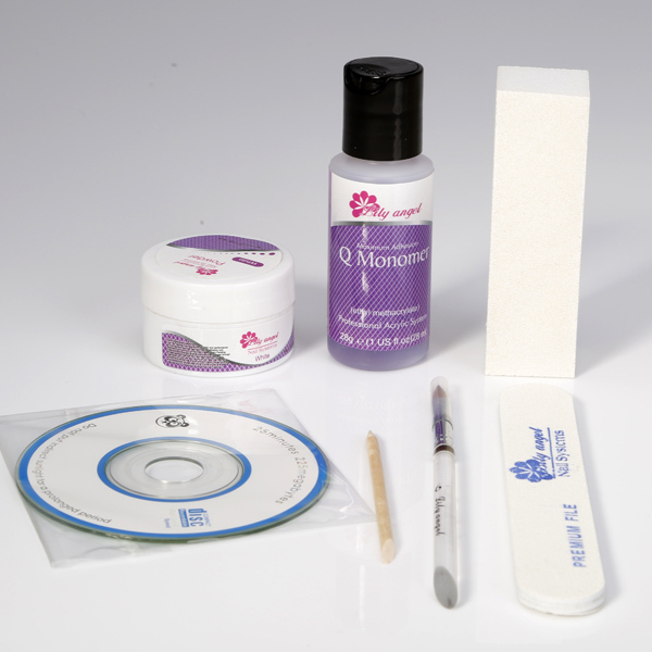 7 Pieces Box Lily Angel Deluxe Overlay Kit Strengthens Natural Nail