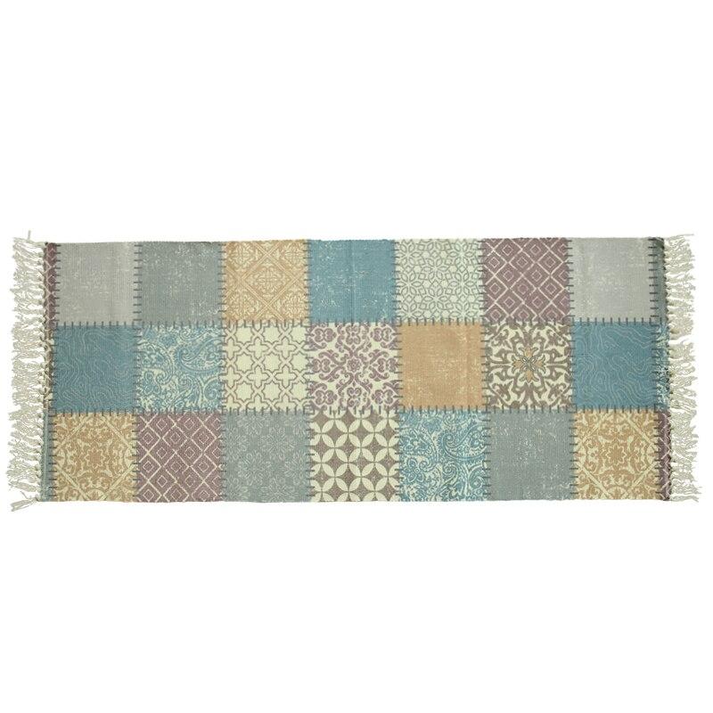 Chevet coton glands tapis chambre tapis ménage rectangulaire tapis lavable en Machine tresse bandes moderne minimaliste nordique