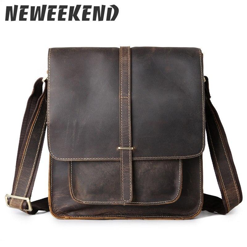2018 Vintage Men's Genuine Leather Cowhide Shoulder Handbag Crossbody Business Messenger Sling Bag Briefcase Portfolio 5867 цена 2017