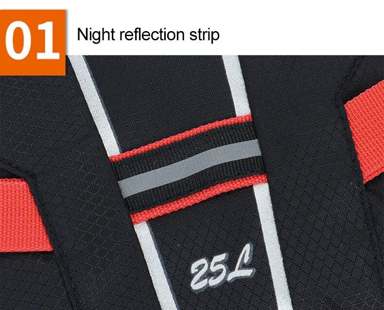25l esporte reflexivo mochila ciclismo saco de