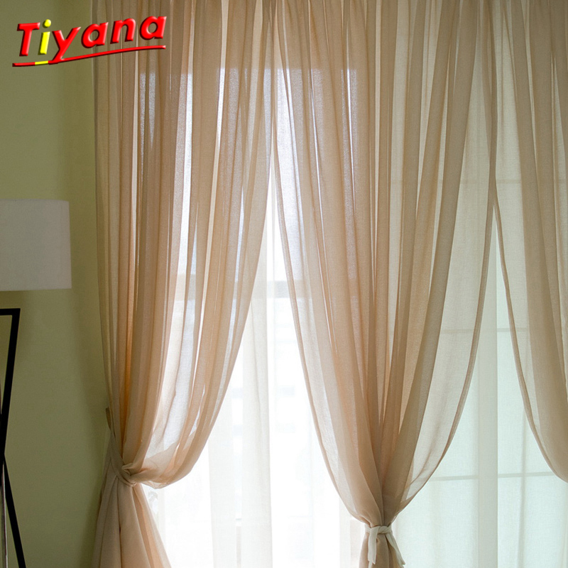 US $7.26 34% OFF Purple Curtain Home decor Blue Sheer Curtain Linen Green  Tulle luxury living room curtain Light Grey Voile Tulle hook WP276 *30-in  ...