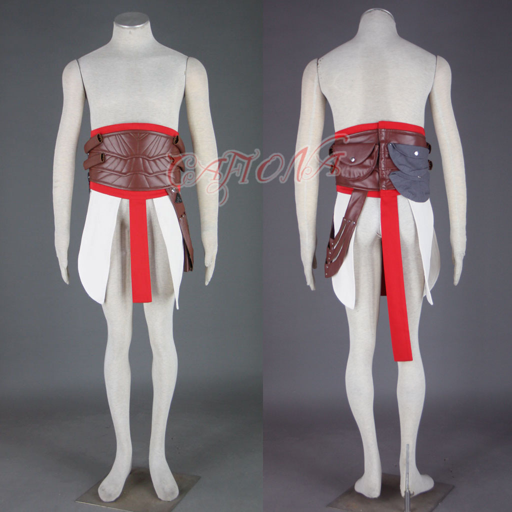 Cafiona Super Hero Assassins Creed Altair Cosplay Costume Cool Man Fighting Outfits High Quality