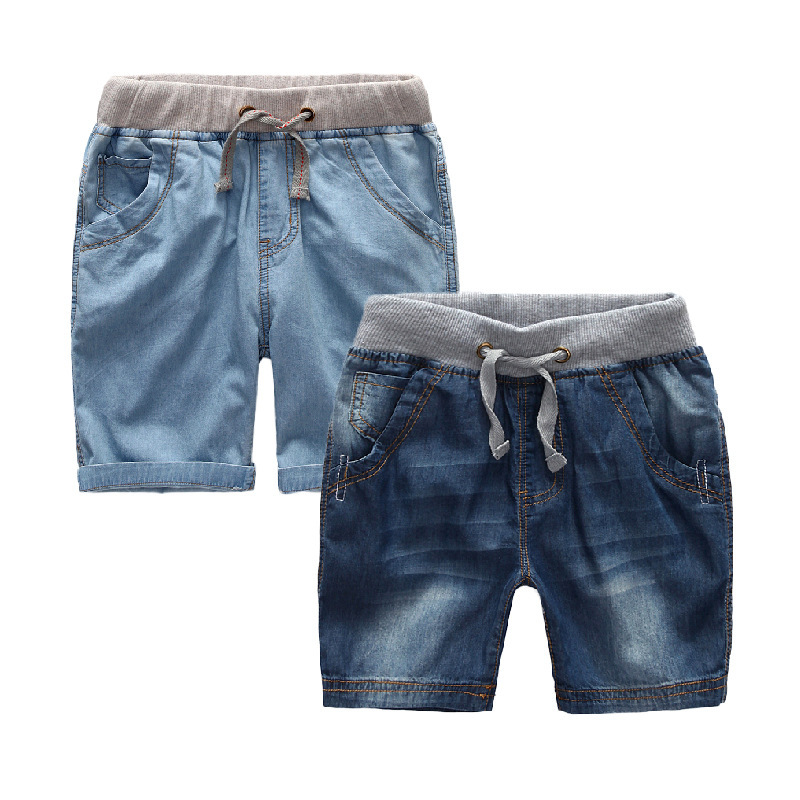 Boys Summer Jeans Shorts Children Cowboy Shorts Cotton Short Pants 2018 Casual Baby Boys Trousers 3-12 Years Kids Clothes 3 11 years boys winter plus velvet jeans thick casual denim children harem pants cowboy trousers elastic waist child clothes