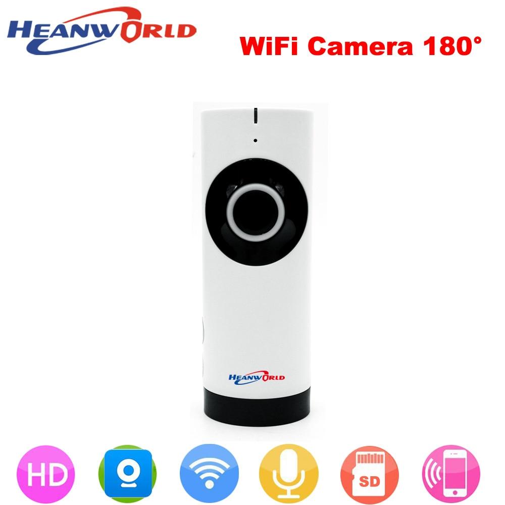 Heanworld 180 Degree Panoramic Fish Eye lens Mini wireless IP camera 720P Night Vision CCTV Security Camera support Smartphone 185 degree fish eyes lens ir night vision 720p cmos wireless ip camera
