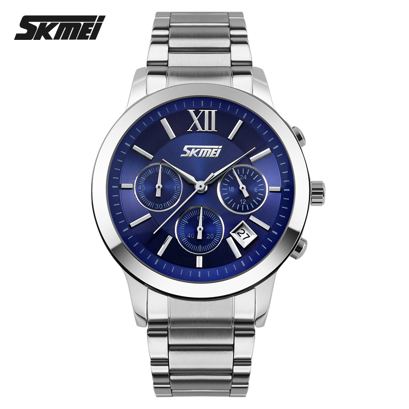 SKMEI Watches Men Top Brand Luxury Fashion Casual Full Steel Sports Watches Relogio Masculino Men's Clock Quartz Wristwatch new 2017 men watches luxury top brand skmei fashion men big dial leather quartz watch male clock wristwatch relogio masculino