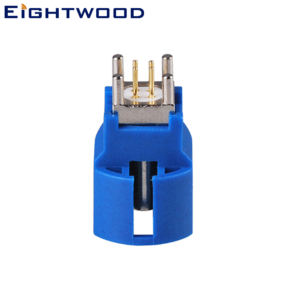 Eightwood Car <font><b>GPS</b></font> Antenna Reciever <font><b>Adapter</b></font> <font><b>Fakra</b></font> HSD LVDS Code C Jack Female PCB Mount ST Blue/5005 for Pioneer JVC Kenwood image