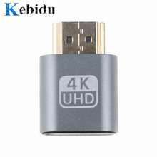 Kebidu más venta VGA Virtual HDMI macho tonto adaptador Virtual pantalla emulador adaptador DDC Edid apoyo 1920x1080 P para Video(China)