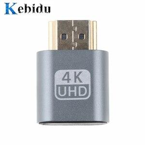 Kebidu Newest SALE VGA Virtual Plug HDMI Dummy Adapter Virtual Display Emulator Adapter DDC Edid Support 1920x1080P For Video
