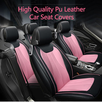 Universal Car Seat Covers PU Leather Covers for car protect for Audi A6L R8 Q3 Q5 S4 RS Quattro A1 auto accessories car sticker
