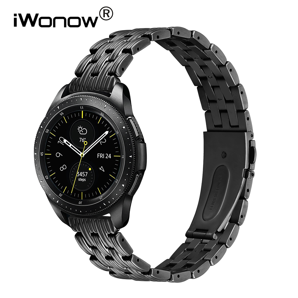 iWonow Newest Stainless Steel Watchband 20mm 22mm for Samsung Galaxy Watch 42mm 46mm SM-R810/R800 Quick Release Band Wrist Strap ceramic stainless steel watchband universal quick release watch band butterfly clasp wrist strap 12mm 14mm 16mm 18mm 20mm 22mm