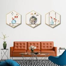 лучшая цена Chinese style noble auspicious wall painting living room background wall painting corridor mural Hotel decorative painting