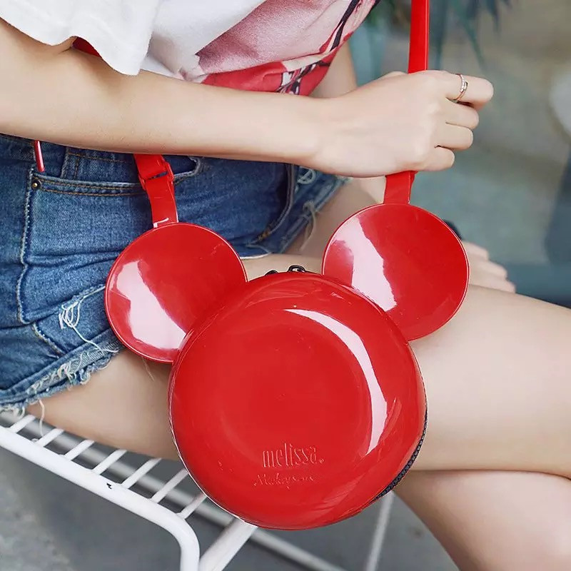 mini melissa fashion kids children girls sandals cartoon mickey minne parent child bag 4 color gold red white Black in Slippers from Mother Kids