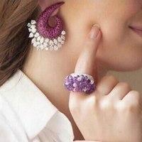GODKI Brand New Luxury Flower Exposion Design Cubic Zirconia Ear Earrings Shinning Wedding Stud Earring