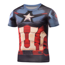 High Quality Compression T-Shirt Batman Spiderman Ironman Superman Captain America Avenger Superhero 3D Tee Shirts Short Sleeve