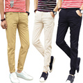 Spring new classic hot stretch pants feet trousers men's business casual pants men Slim young boys trousers multicolor big yards