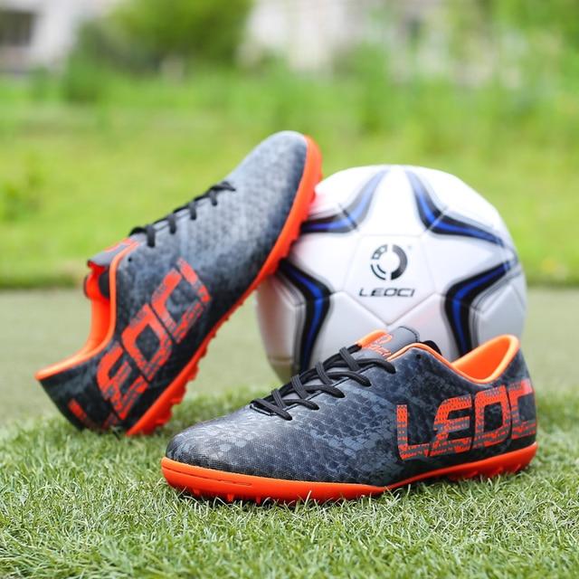 185afa36c381 2018 New Men's Futzalki Football Shoes Sneakers TF/SG Futsal Boys Kids  Anti-skid Indoor Turf Cleats Trainer Soccer Shoes Sports