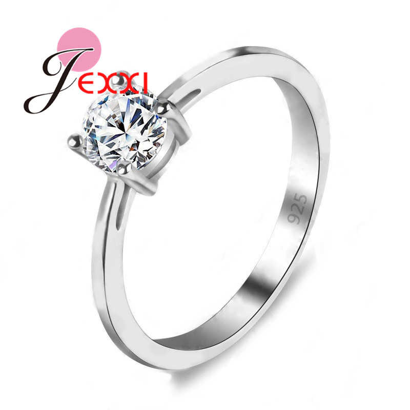 925 Sterling Silver Lose Money Promotion Hot Sell Super Shiny Cubic Zircon Wedding Rings For Women Jewelry Wholesale