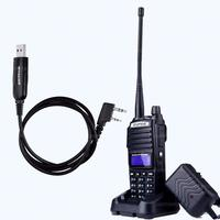 BAOFENG UV 82 VHF UHF Dual Band 136 174/400 520MHz 2 PTT 5W Two Way Radio+earpiece +program Cable+in Moscow stock