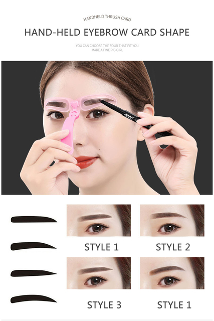 4Pcs/Set Professional Makeup Eyebrow Stencil Beauty Eyebrow Shaping Template Tools Woman Eyebrow Stencils Makeup Accessories 5