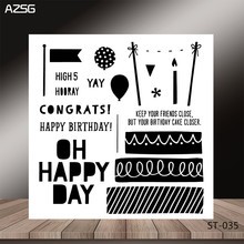 Happy birthday Transparent Silicone Clear Stamps/seal for DIY Scrapbooking/Card Making/Photo Album Decoration Supplies