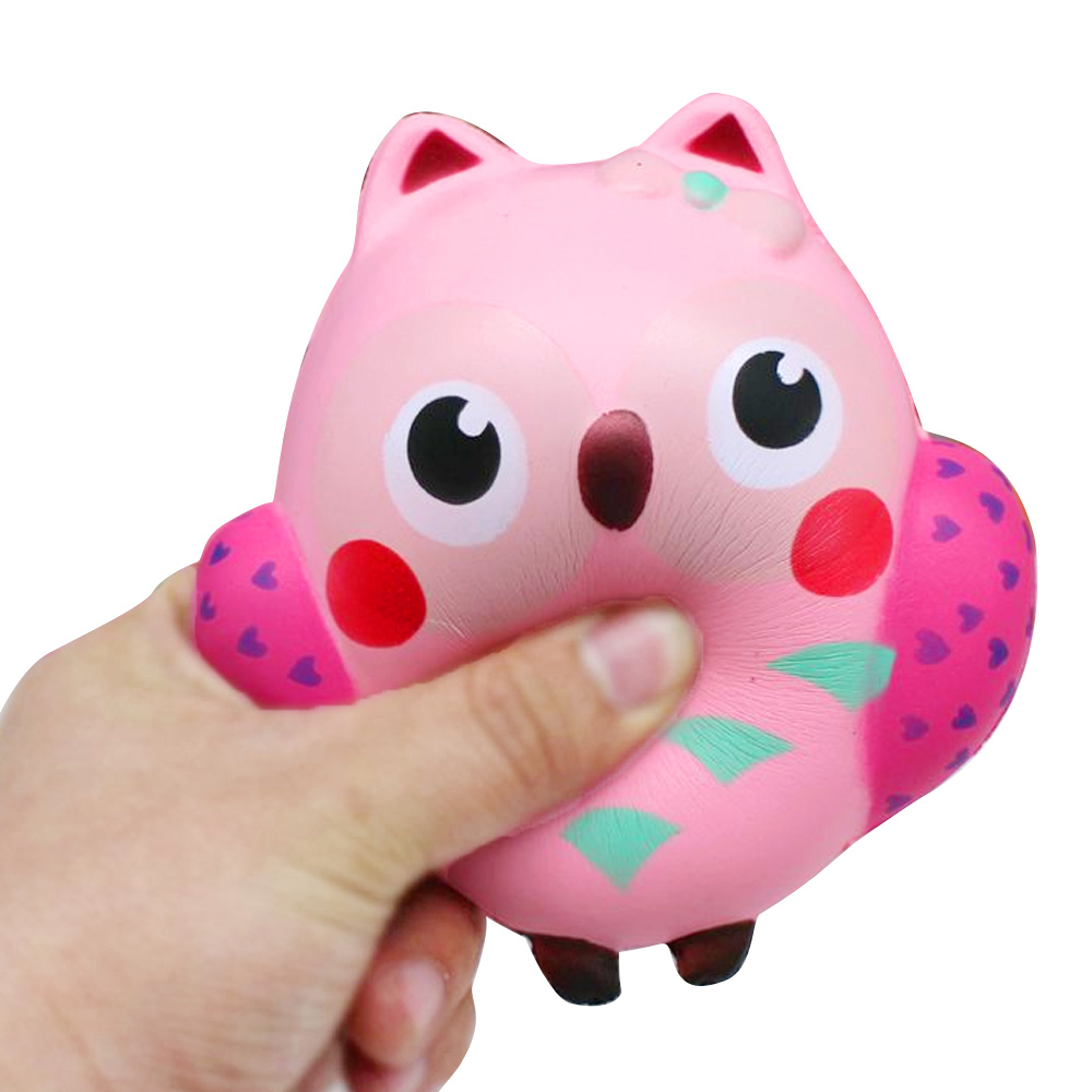 Toys & Hobbies Squeeze Toys Jumbo Kawaii Owl Animal Squishy Slow Rising Squeeze Toys Phone Strap Charm Pendant Squishes Soft Scented Kid Toy Gift 13*12cm