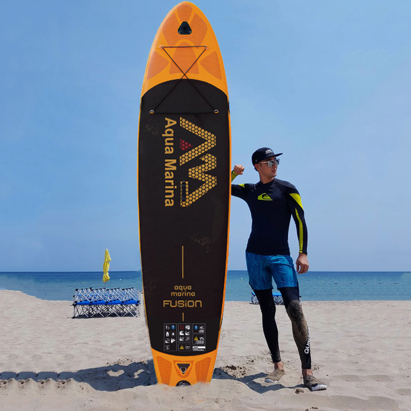 330x75x15cm AQUA MARINA SUP FUSION Inflatable Sup Board stand up paddle board inflating paddleboard with paddle BT-18FUP цена