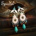 Special New Fashion Drop Earrings Enamel Rhinestones Dangle Earrings Trendy Spring Summer Jewelry Gifts for Women 2017 EH160214