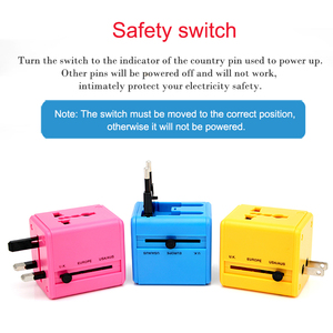 Image 4 - International Travel Adapter Mehrere farbe Elektrische Plug Power Universelle Buchse Adapter USB Power Charger Konverter EU UK US AU