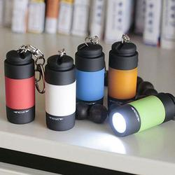 HobbyLane Mini Protable USB Charging LED Light Flashlight With Keychain Pendant For Bag