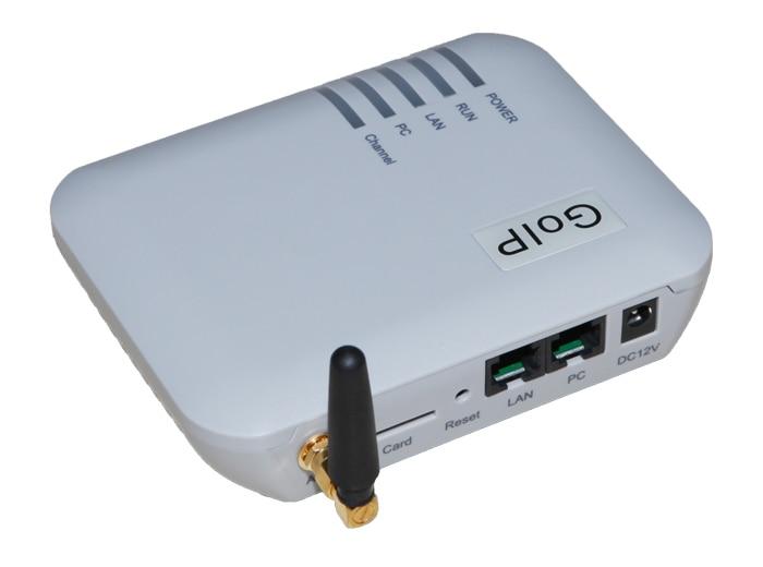 GSM Gateway GOIP 1 Chip (Cambio de IMEI, 1 de la Tarjeta SIM, SIP y H.323, VPN PPTP). SMS GSM VOIP Gateway-Promoción