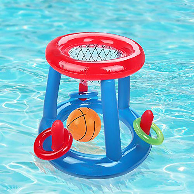 Lightweight Folding Inflatable Floating Water Amusement Equipment For Beach Party Swimming Pool Basketball Hoop