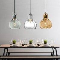 Modern Globe Glass Pendant Light For Kitchen Big Bulb Lamp shade Pendant Lamp Cafe Home Lighting Fixtures Bar Hanging Lamp