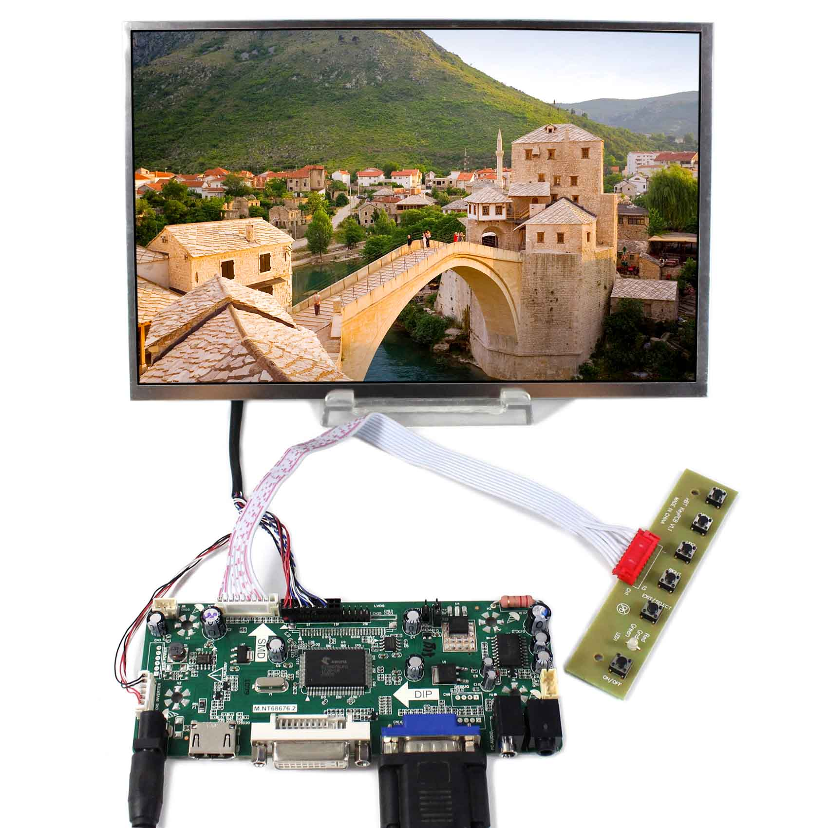 10.1inch B101EW05 1280x800 LCD Screen Wiht HDMI VGA DVI AUDIO LCD Controller Board hdmi vga av audio usb fpv controller board 10 1inch b101ew05 1280x800 touch panel screen model lcd for raspberry pi