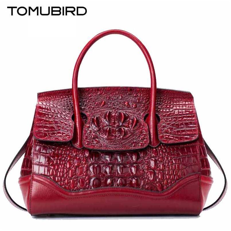 Tomubird nuevo superior de cuero genuino mujeres de la marca bolsas de diseñador