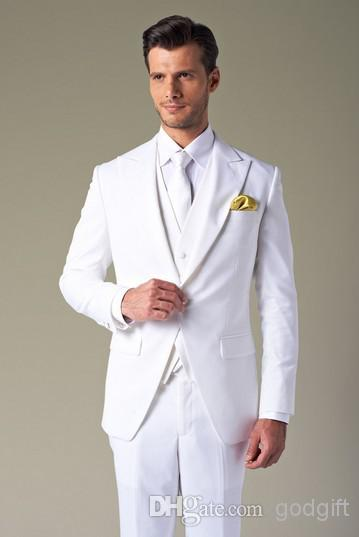 Aliexpress.com : Buy White Wedding Tuxedos For Men Slim Fit Mens ...