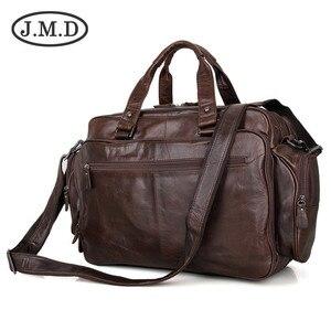 J.M.D трендовые дорожные сумки из 100% натуральной кожи, сумка для ноутбука, вещевые сумки, наплечная сумка-мессенджер, сумки, портфели 7150