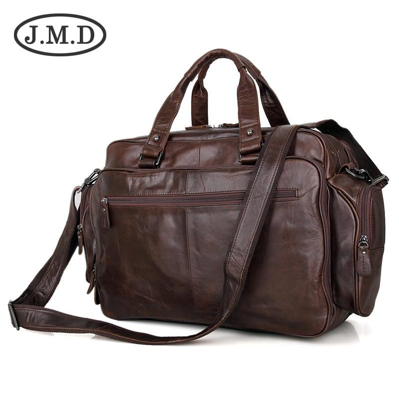 J.M.D 100% Real Leather Trendy Travel Bags Handbag Laptop Bag Duffel Bags Shoulder Messenger Bag Handbags Briefcases 7150