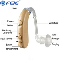 FEIE Hearing Aid Audifonos Bte With Wholesale Price for high Heairng Loss Deaf Person free shipping S 303