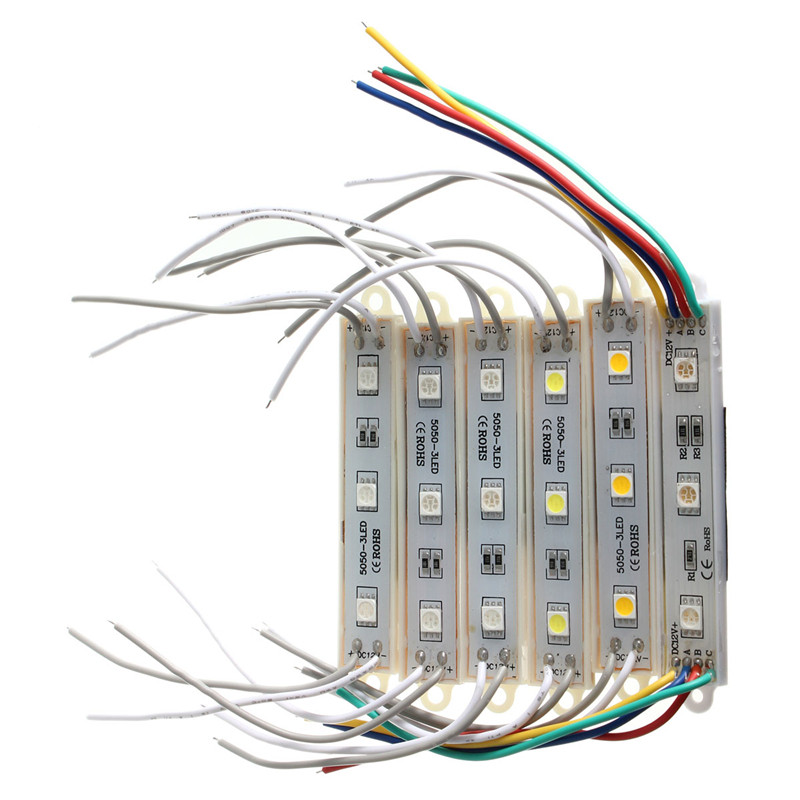 High Quality High Power Multicolors Waterproof IP68 5050 SMD 3 LED Module LED Strip String Light DC12V
