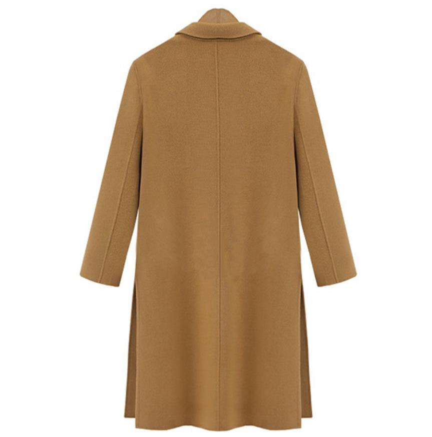 Manteau Long Hiver 2019 Manteaux Laine camel Automne beige Côté De Pardessus Split Élégant Black Femmes Chaud Moyen Oversize Vestes xpqzIwH